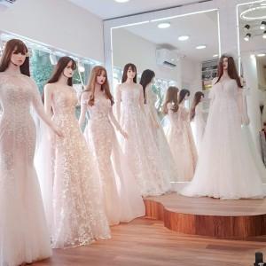 Manocanh áo cưới tay xuôi ASR11
