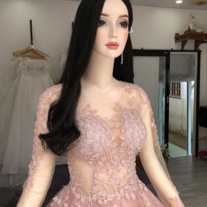 Manocanh Nữ Trang Điểm Mặc Đầm Tóc Dài Trang Điểm ASR142