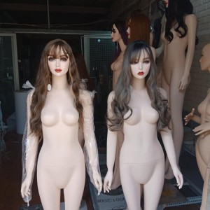 Manocanh Nữ Màu Da Tóc Dài Trang Điểm Tay Xuôi ASR138
